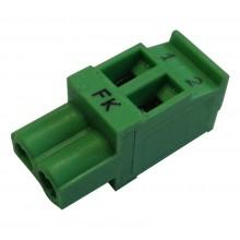 Штекер 2-х разъемный Buderus для Logamatic 2000/4000, зеленый